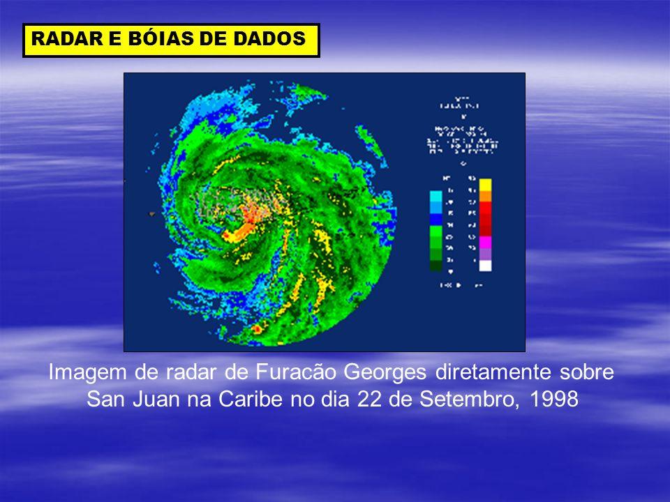 Imagem de radar de Furacão Georges diretamente sobre
