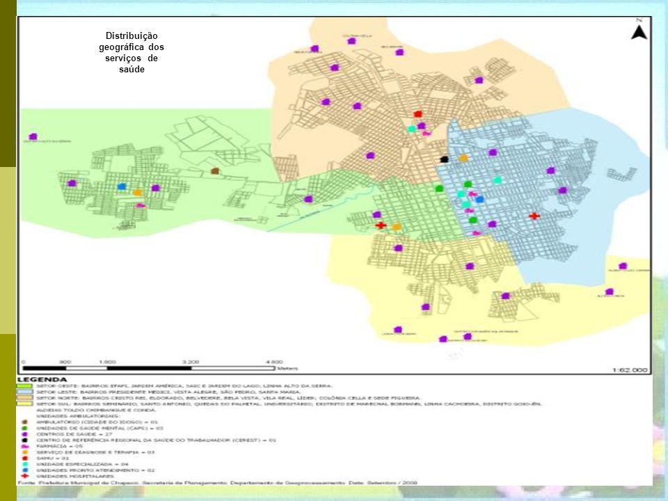 Distribuição geográfica dos serviços de saúde