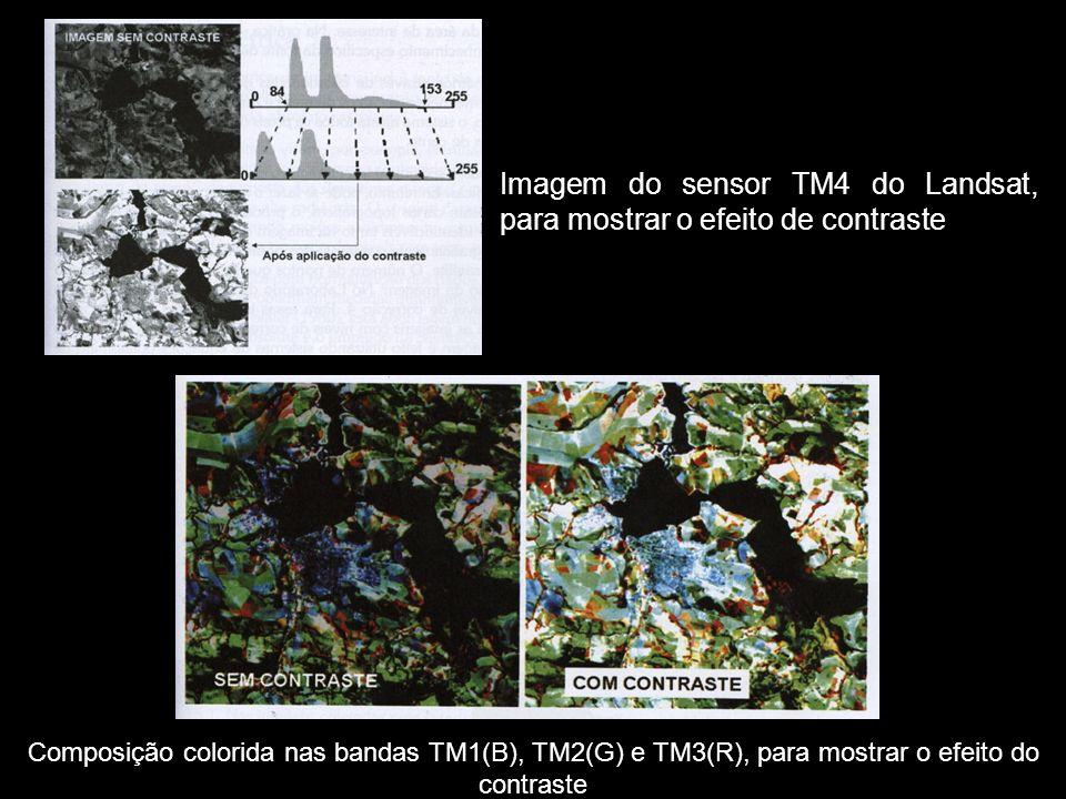 Imagem do sensor TM4 do Landsat, para mostrar o efeito de contraste