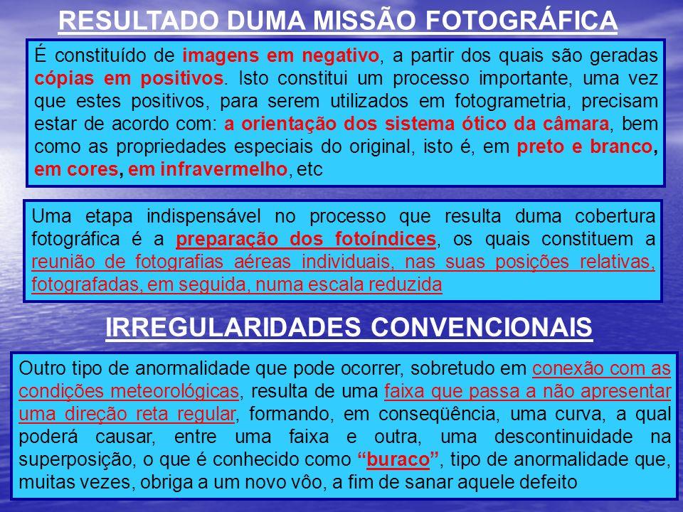 RESULTADO DUMA MISSÃO FOTOGRÁFICA IRREGULARIDADES CONVENCIONAIS
