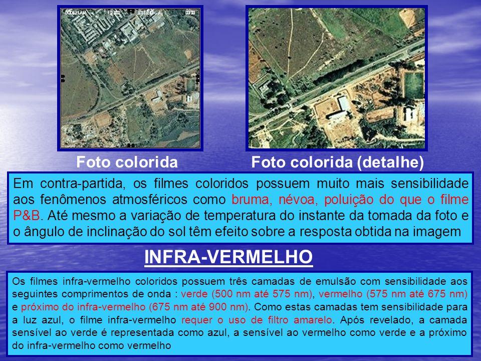 INFRA-VERMELHO Foto colorida Foto colorida (detalhe)