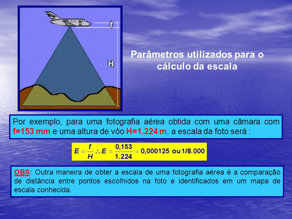 Parâmetros utilizados para o cálculo da escala