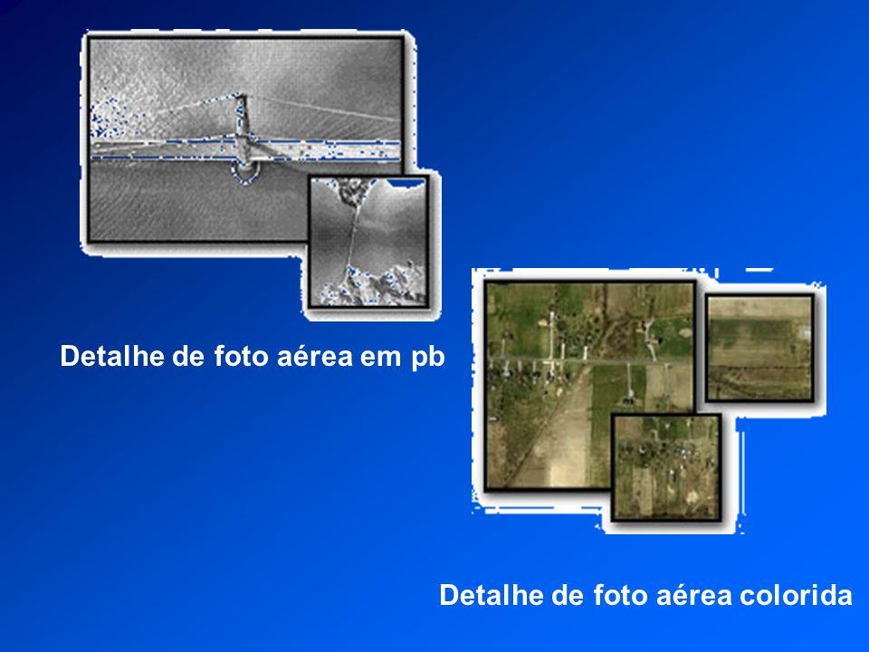 Detalhe de foto aérea em pb