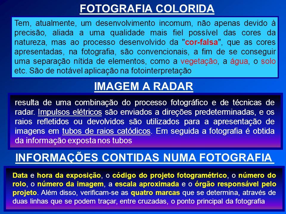 INFORMAÇÕES CONTIDAS NUMA FOTOGRAFIA