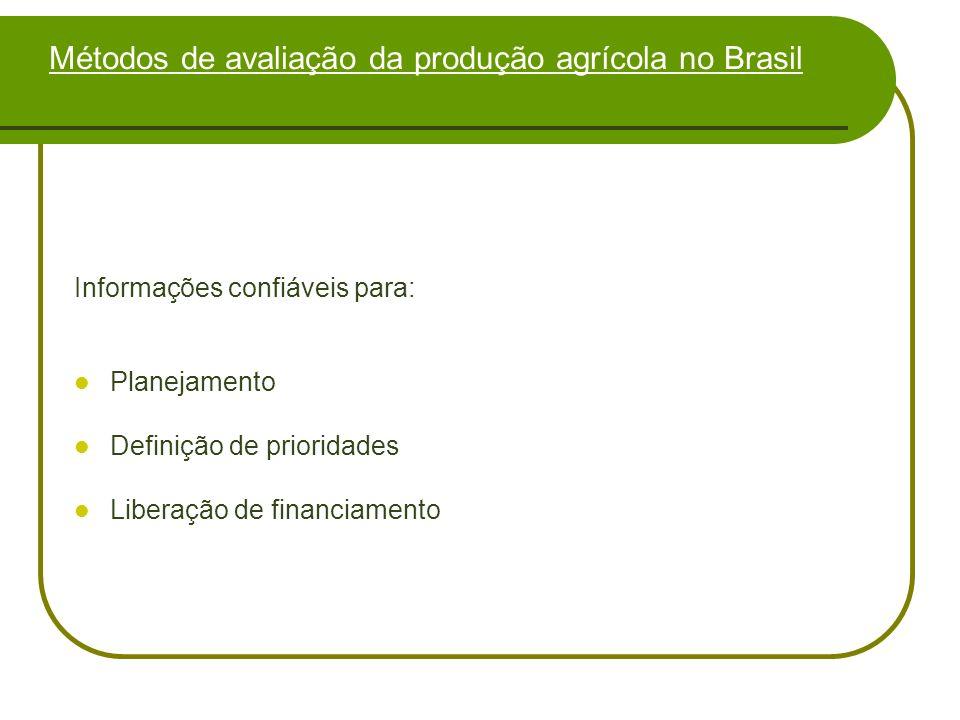 Métodos de avaliação da produção agrícola no Brasil