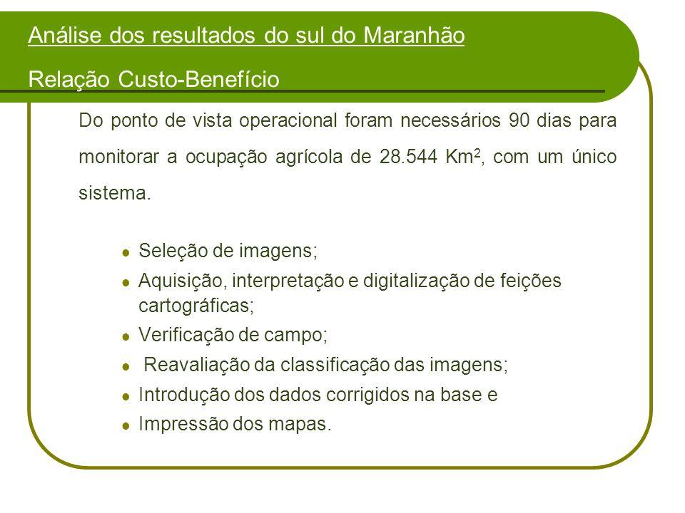 Análise dos resultados do sul do Maranhão Relação Custo-Benefício