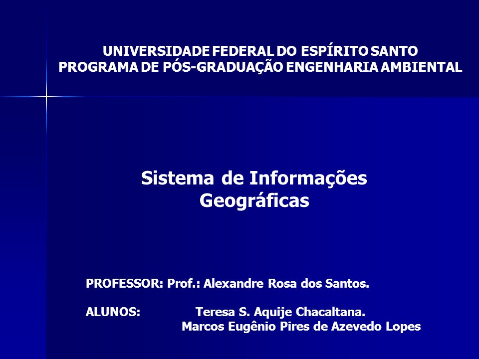 Sistema de Informações Geográficas