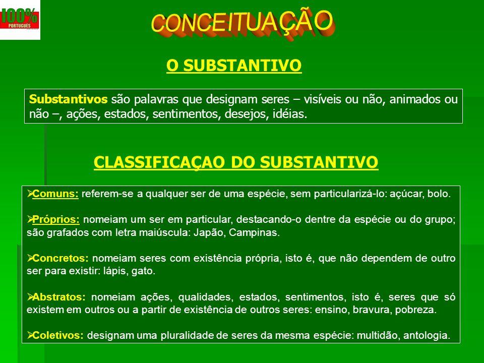 CLASSIFICAÇAO DO SUBSTANTIVO