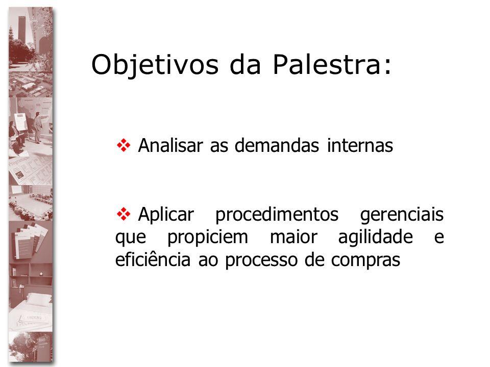 Objetivos da Palestra: