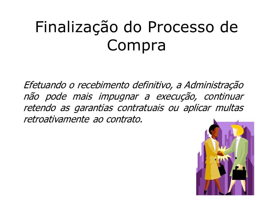 Finalização do Processo de Compra