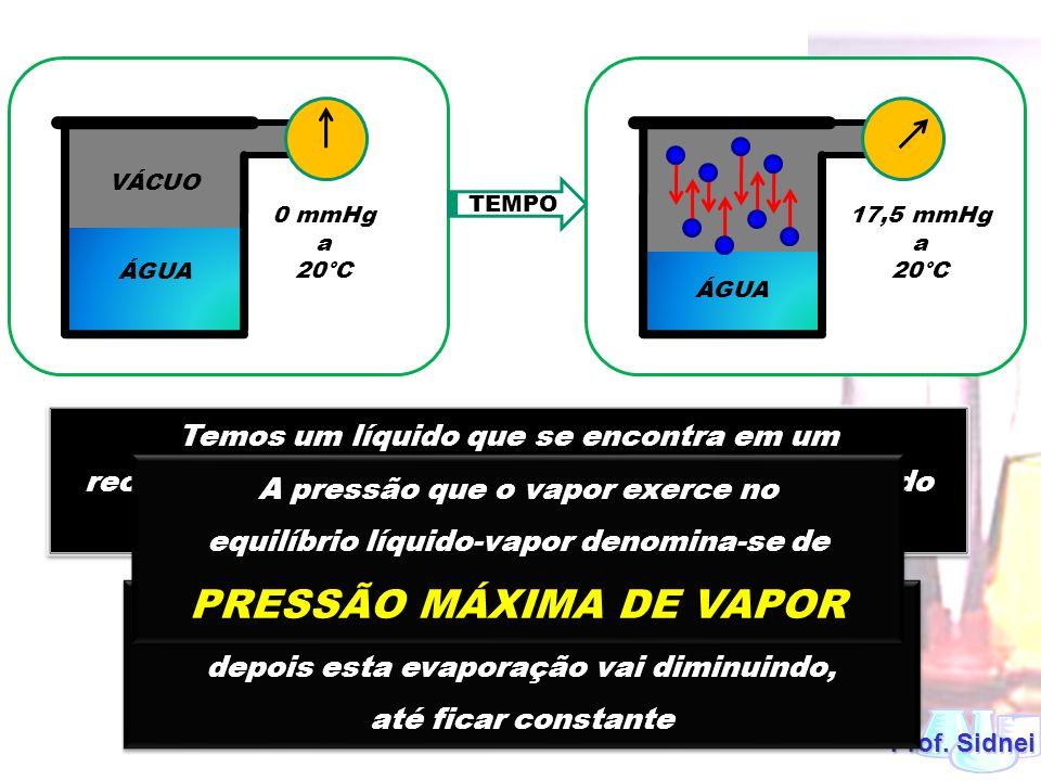 PRESSÃO MÁXIMA DE VAPOR