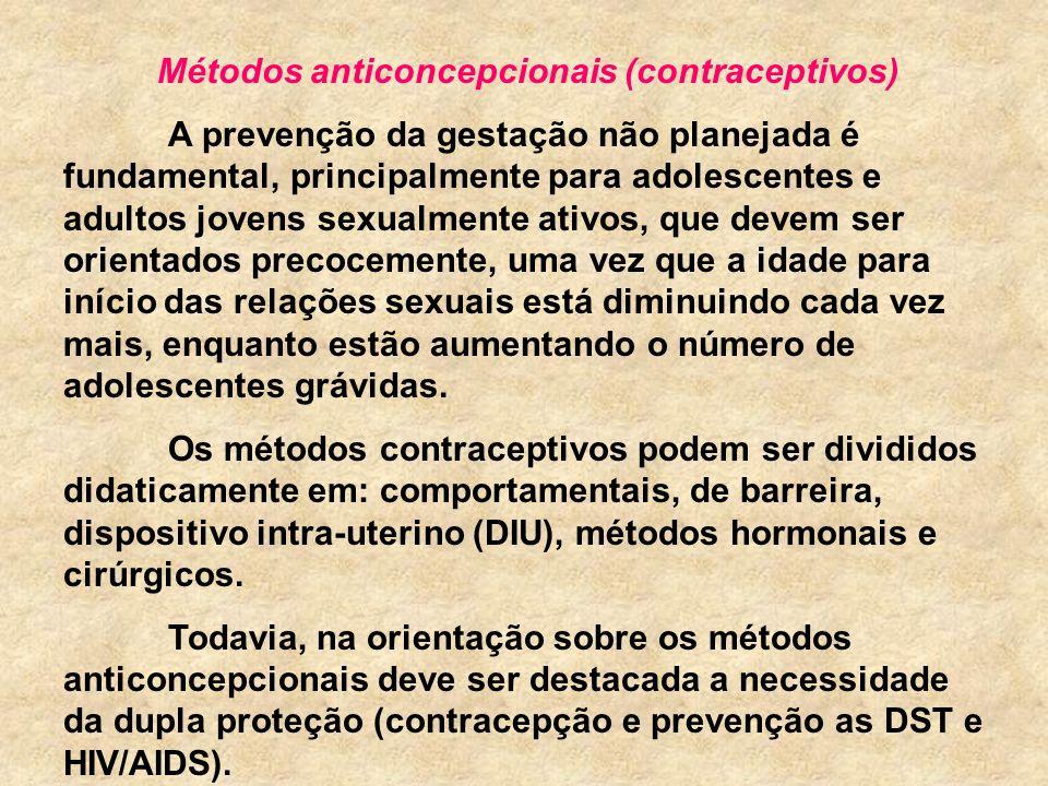 Métodos anticoncepcionais (contraceptivos)