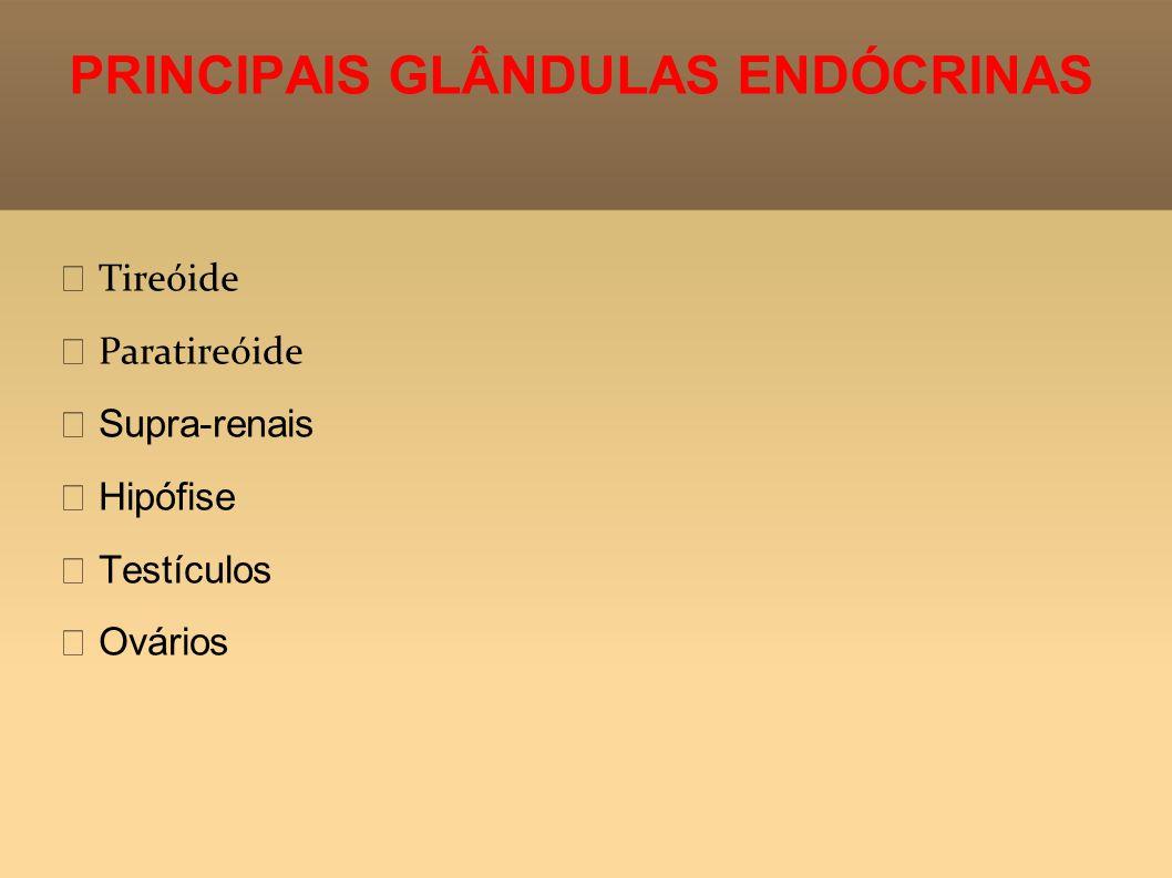 PRINCIPAIS GLÂNDULAS ENDÓCRINAS