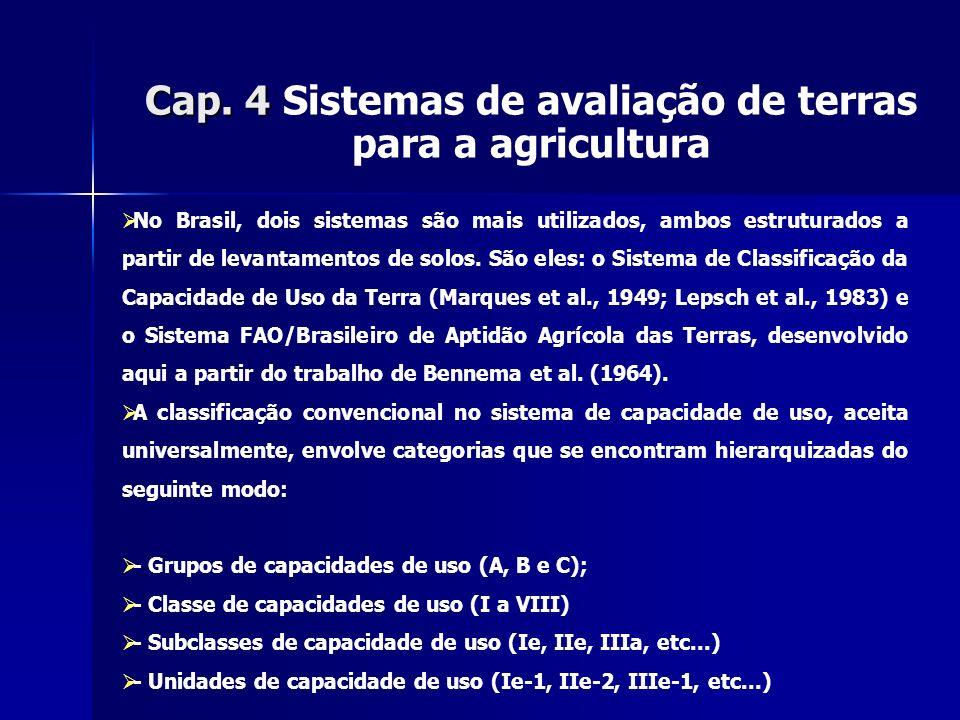 Cap. 4 Sistemas de avaliação de terras para a agricultura