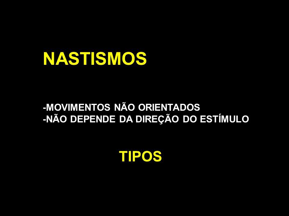 NASTISMOS TIPOS -MOVIMENTOS NÃO ORIENTADOS
