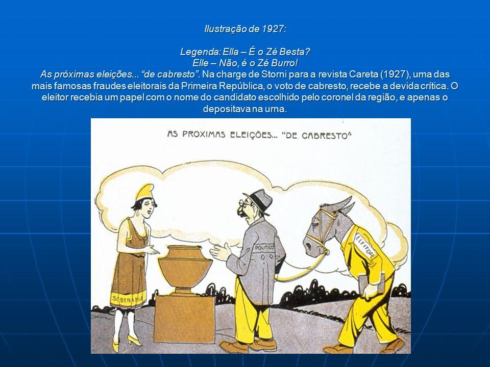 Ilustração de 1927: Legenda: Ella – É o Zé Besta