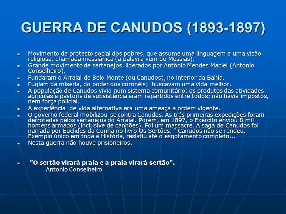 GUERRA DE CANUDOS (1893-1897)