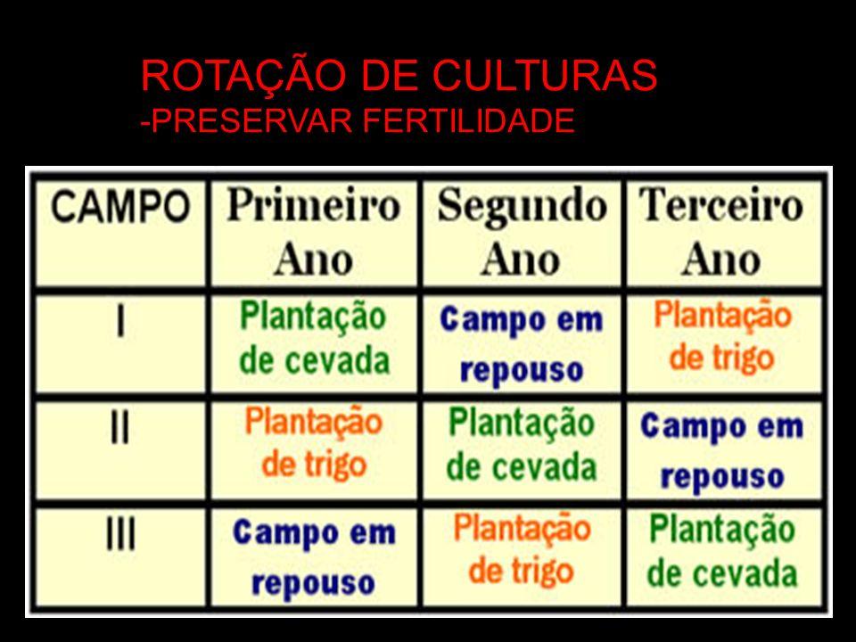 ROTAÇÃO DE CULTURAS -PRESERVAR FERTILIDADE