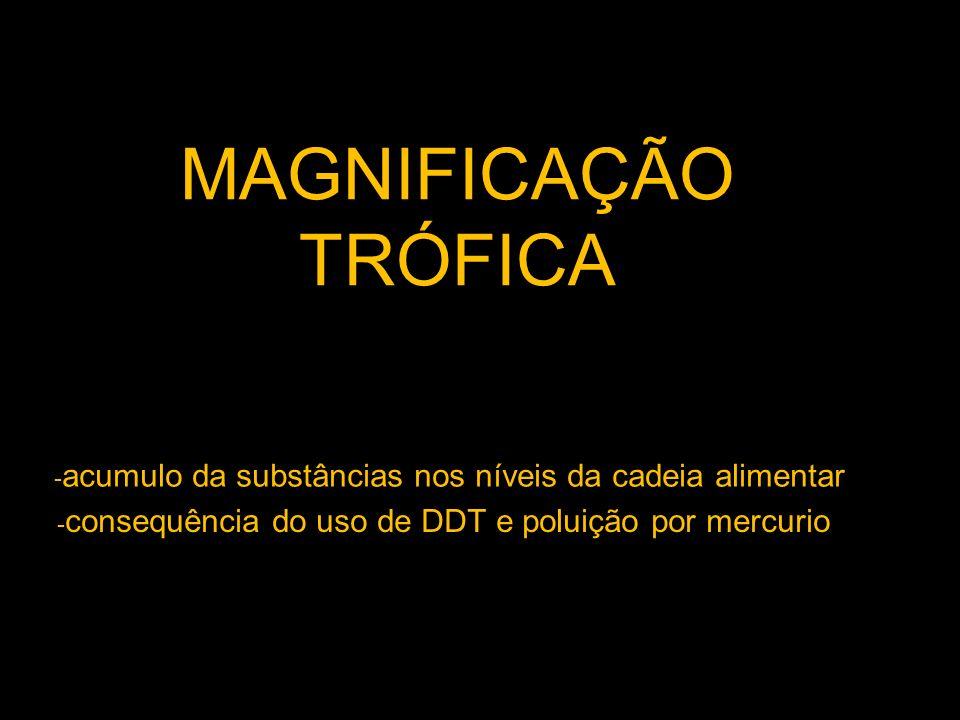 M MAGNIFICAÇÃO TRÓFICA