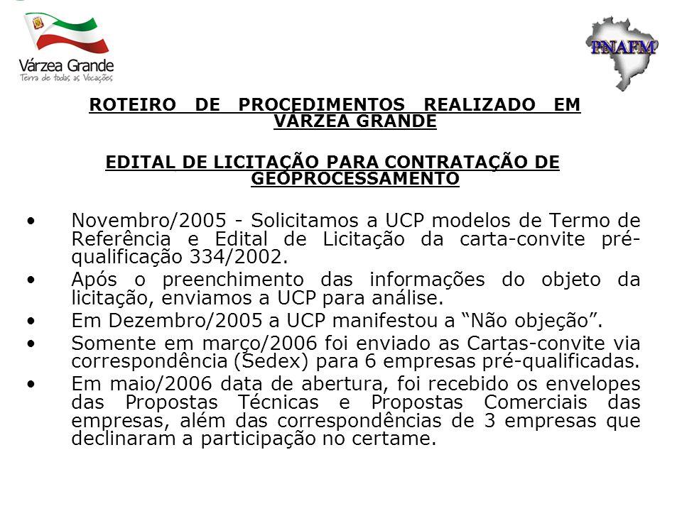 EDITAL DE LICITAÇÃO PARA CONTRATAÇÃO DE GEOPROCESSAMENTO