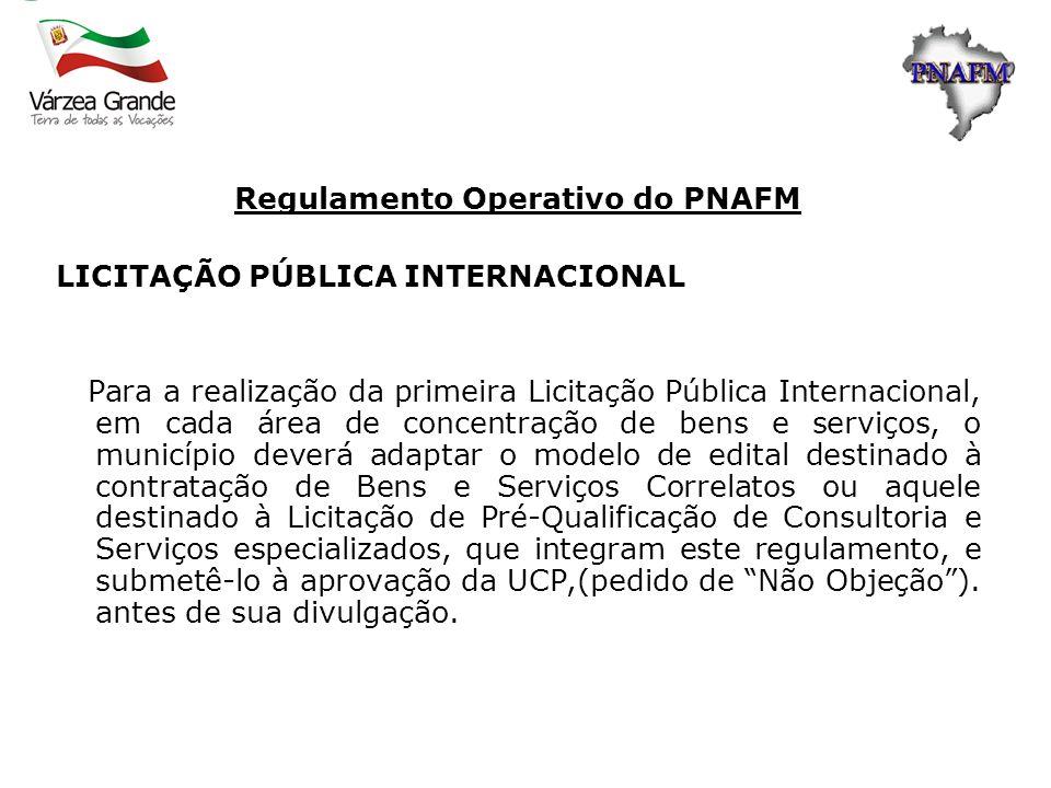 Regulamento Operativo do PNAFM