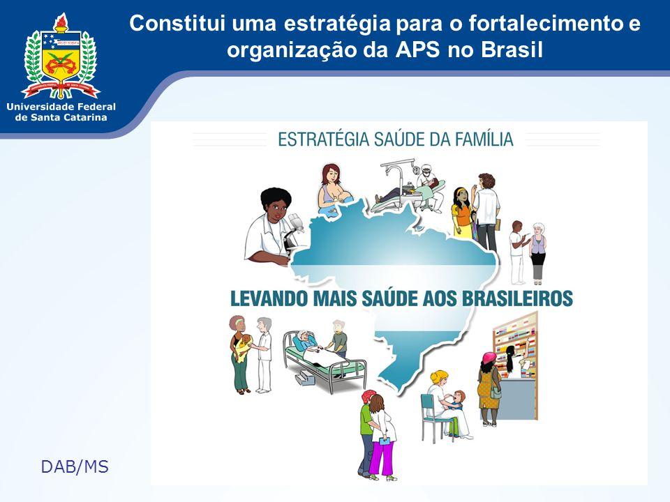 Constitui uma estratégia para o fortalecimento e organização da APS no Brasil