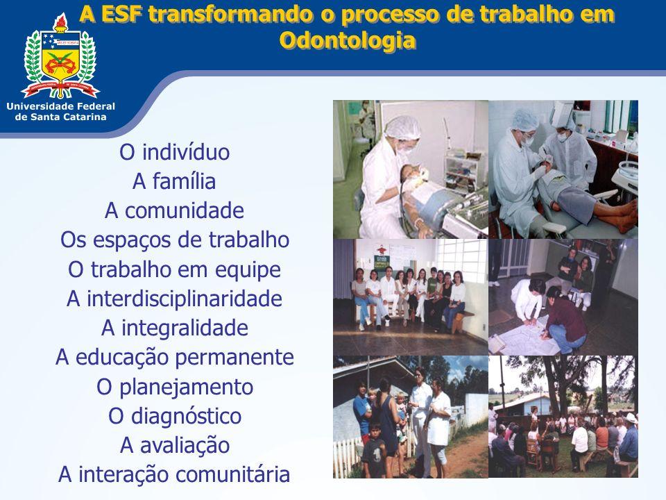 A ESF transformando o processo de trabalho em Odontologia