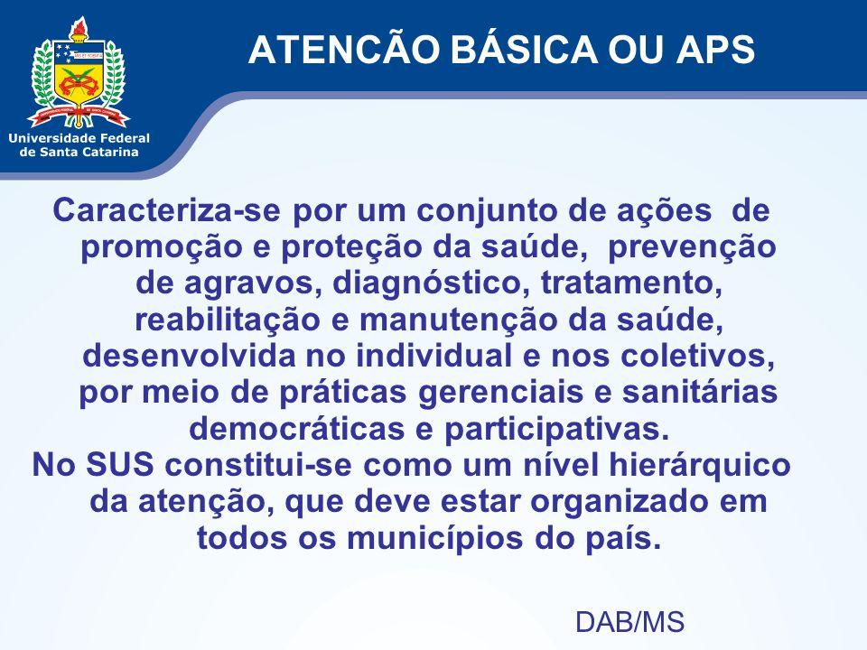 ATENCÃO BÁSICA OU APS