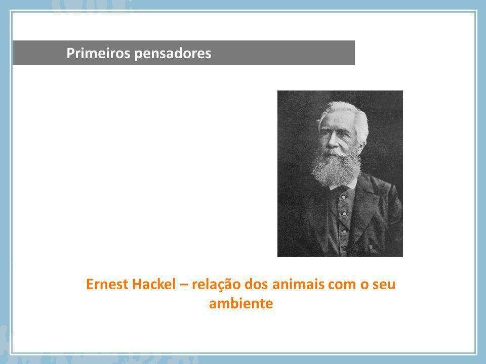 Ernest Hackel – relação dos animais com o seu ambiente