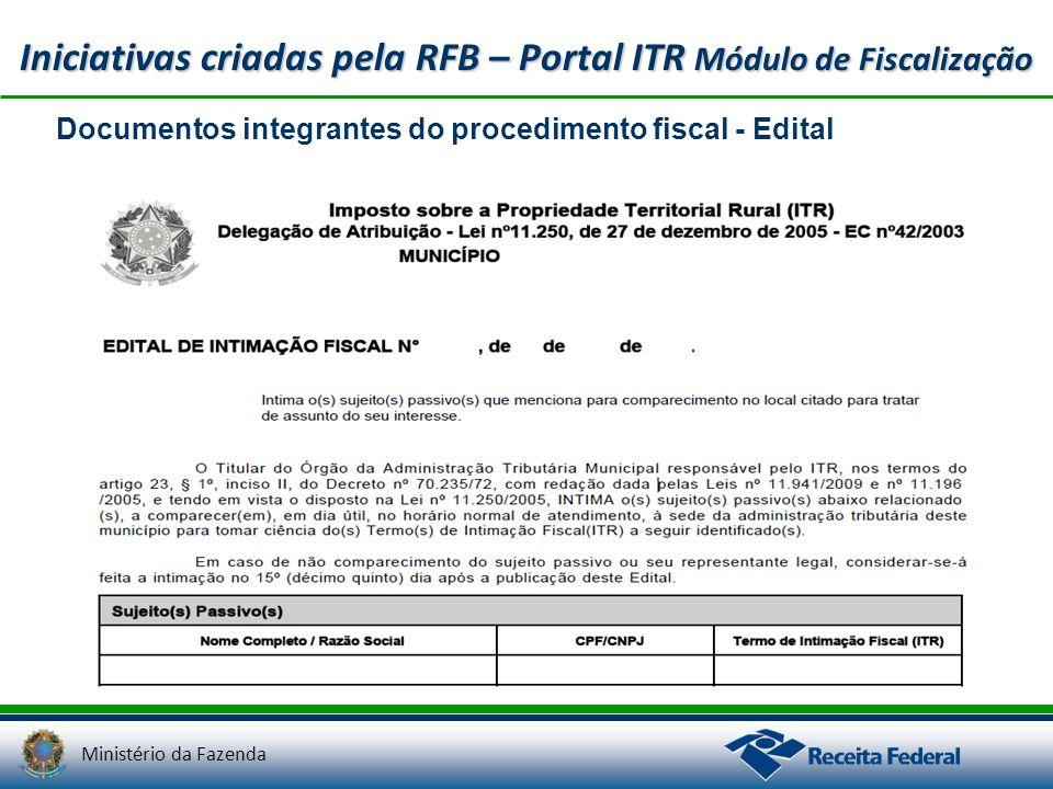 Iniciativas criadas pela RFB – Portal ITR Módulo de Fiscalização