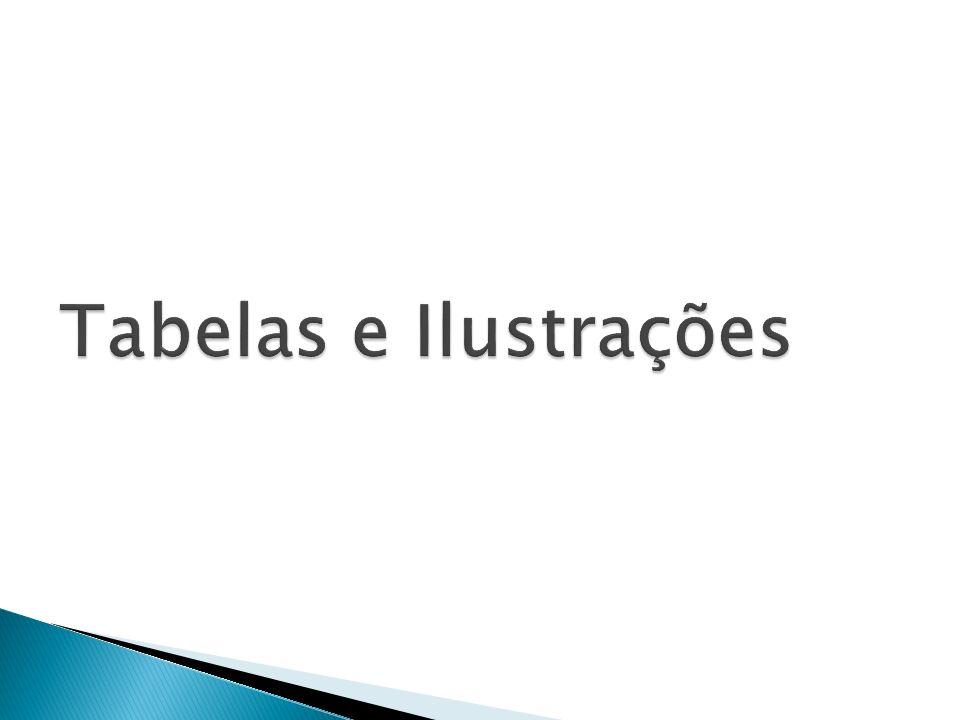 Tabelas e Ilustrações