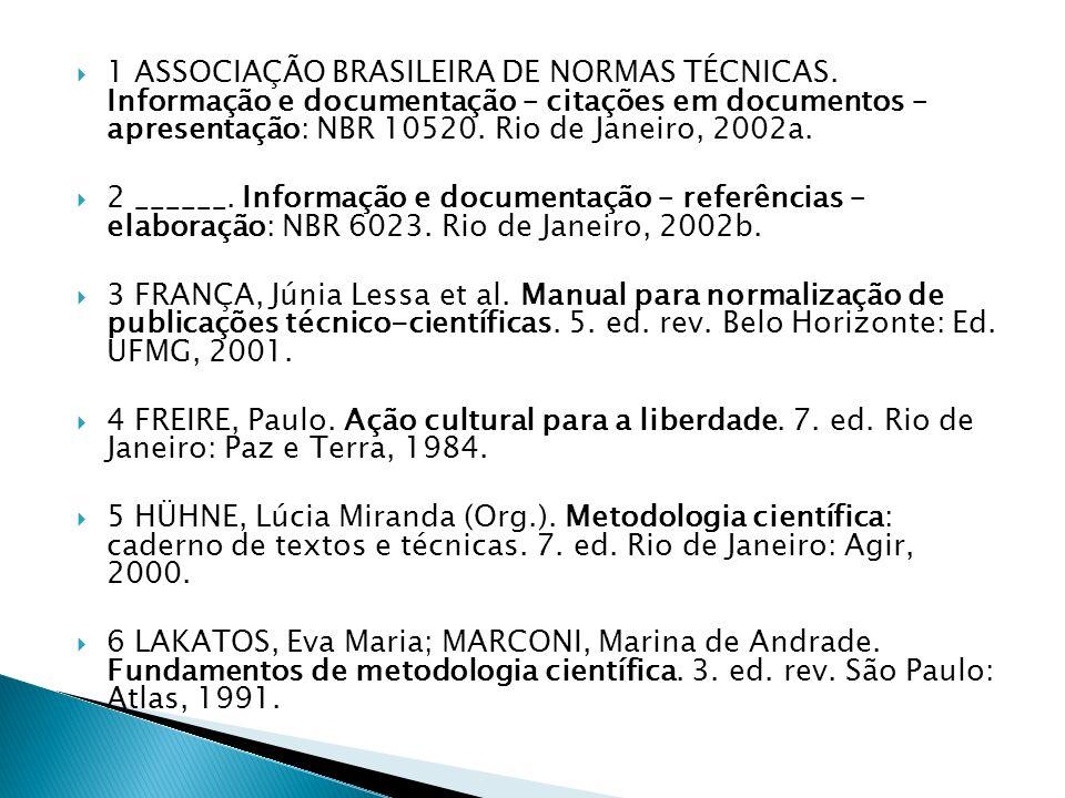 1 ASSOCIAÇÃO BRASILEIRA DE NORMAS TÉCNICAS