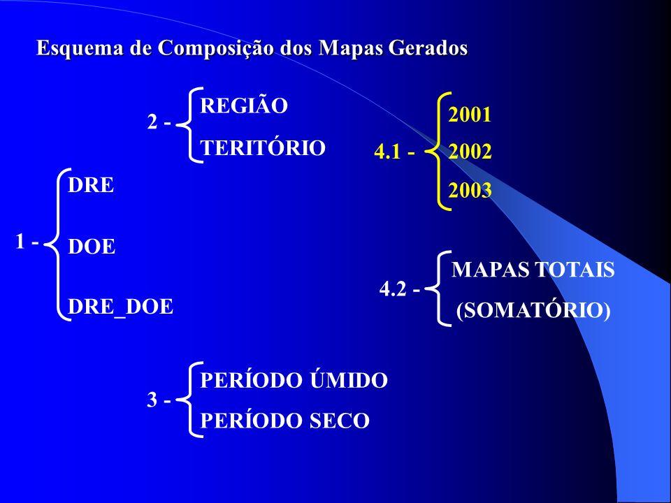 Esquema de Composição dos Mapas Gerados