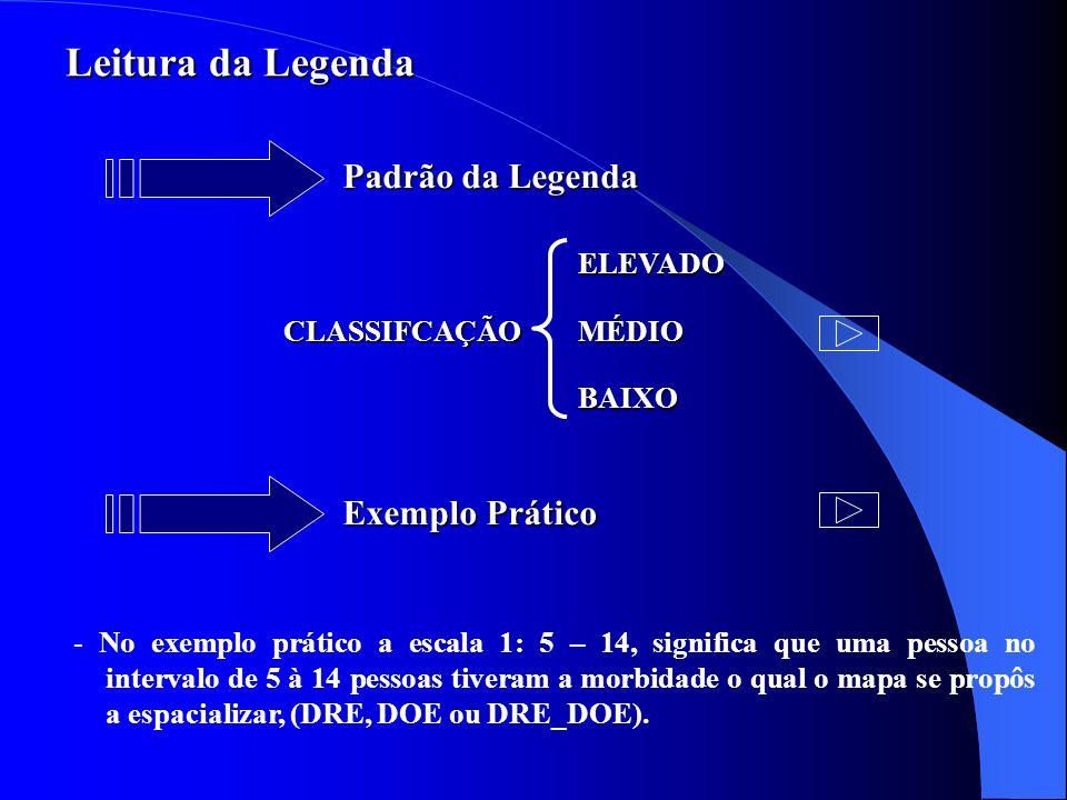 Leitura da Legenda Padrão da Legenda Exemplo Prático ELEVADO