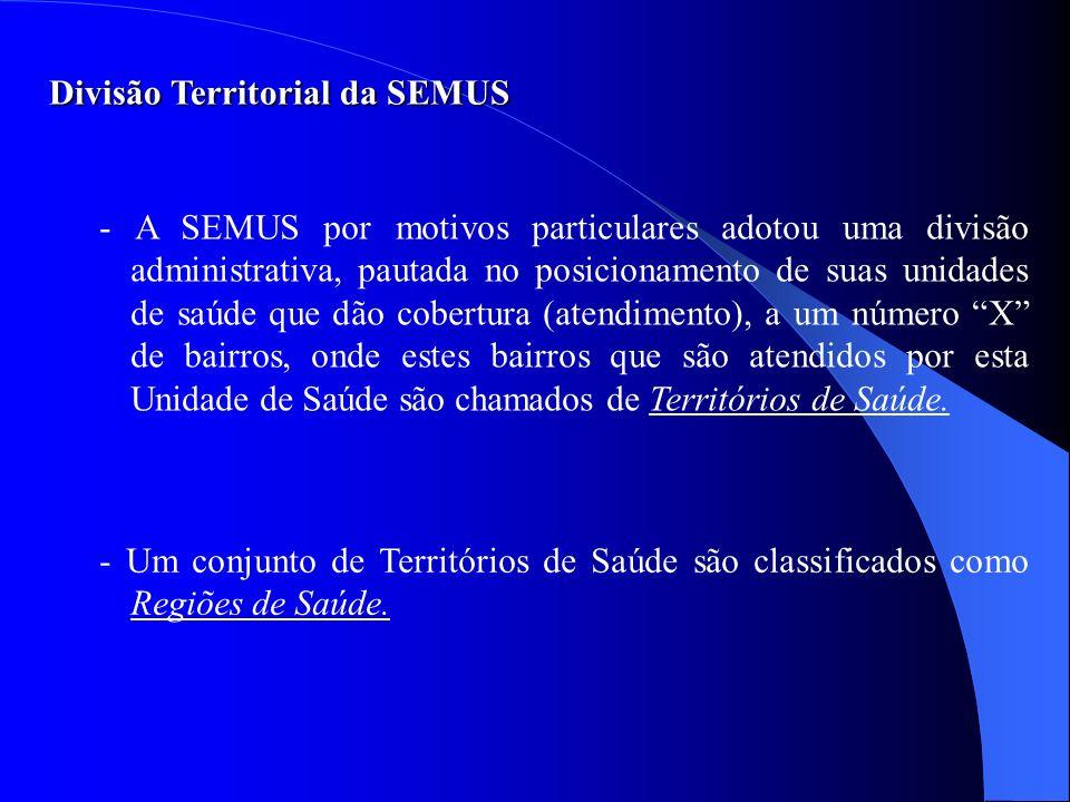 Divisão Territorial da SEMUS