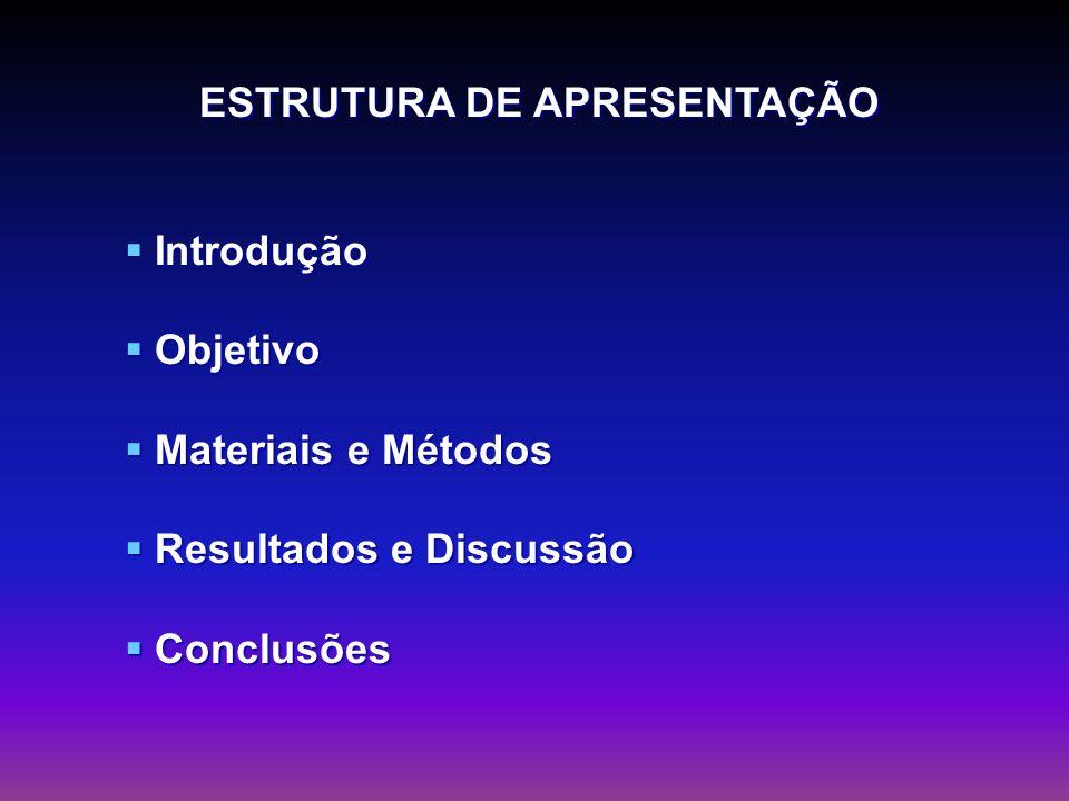 ESTRUTURA DE APRESENTAÇÃO