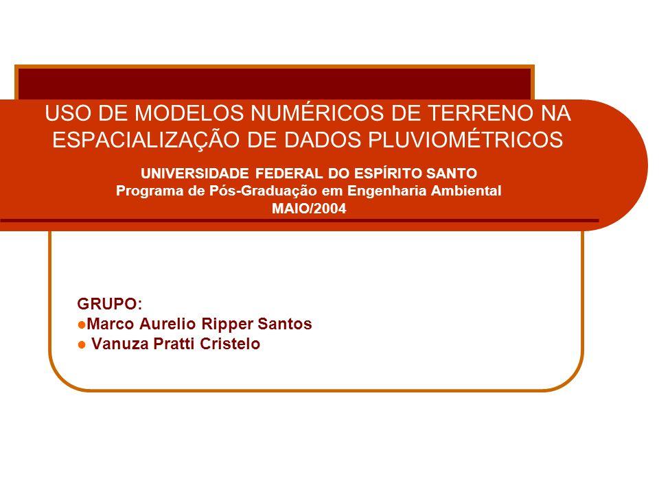 USO DE MODELOS NUMÉRICOS DE TERRENO NA ESPACIALIZAÇÃO DE DADOS PLUVIOMÉTRICOS