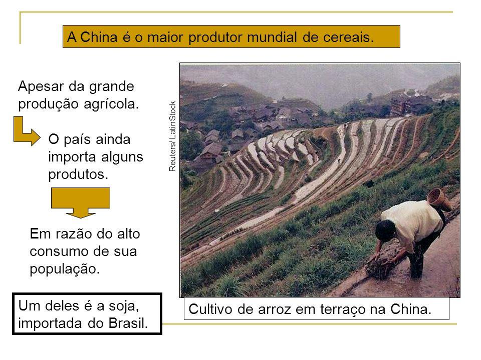 A China é o maior produtor mundial de cereais.