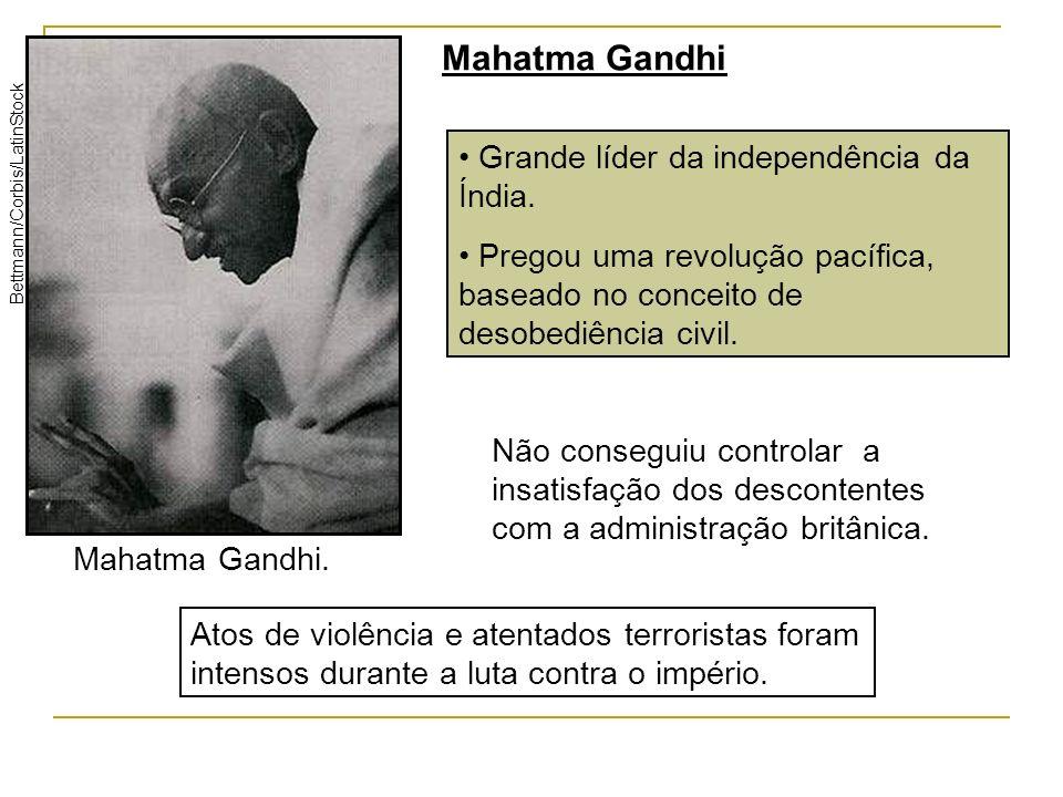 Mahatma Gandhi Grande líder da independência da Índia.