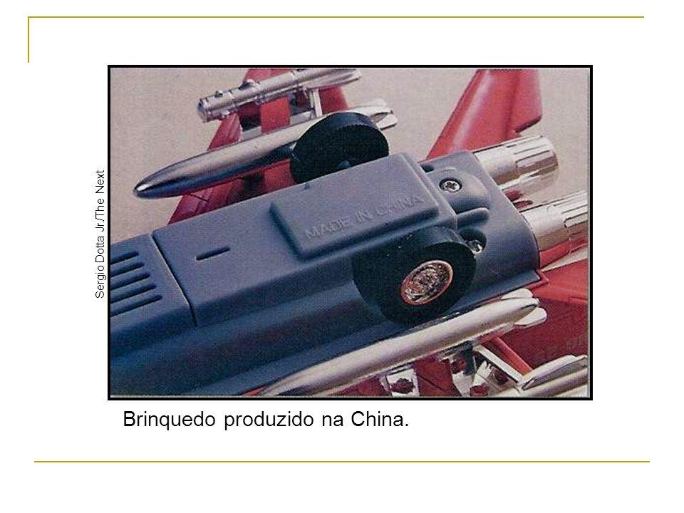 Brinquedo produzido na China.