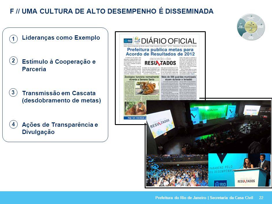 F // UMA CULTURA DE ALTO DESEMPENHO É DISSEMINADA