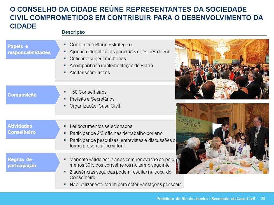 O CONSELHO DA CIDADE REÚNE REPRESENTANTES DA SOCIEDADE CIVIL COMPROMETIDOS EM CONTRIBUIR PARA O DESENVOLVIMENTO DA CIDADE