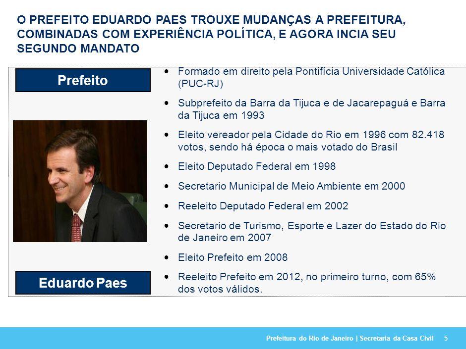 O PREFEITO EDUARDO PAES TROUXE MUDANÇAS A PREFEITURA, COMBINADAS COM EXPERIÊNCIA POLÍTICA, E AGORA INCIA SEU SEGUNDO MANDATO