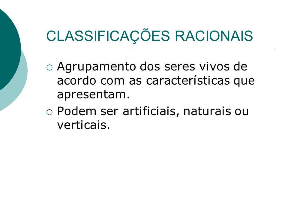 CLASSIFICAÇÕES RACIONAIS