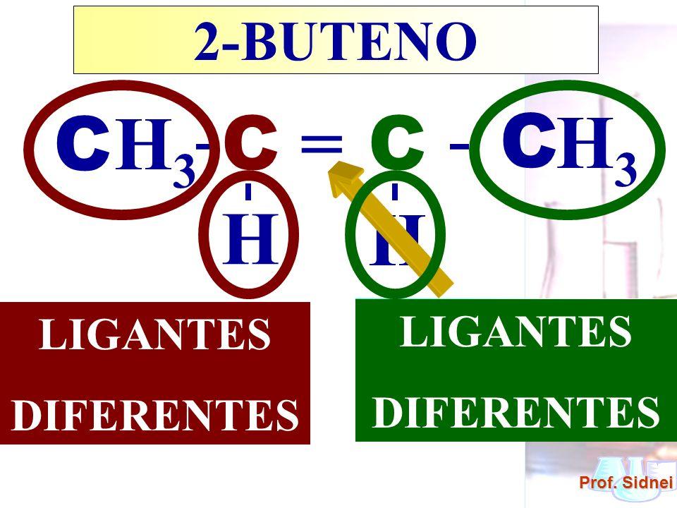 - - C H3 C = C C H3 H H 2-BUTENO LIGANTES DUPLA LIGANTES DIFERENTES