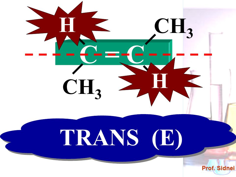 H H CH3 C = C H H CH3 TRANS (E)