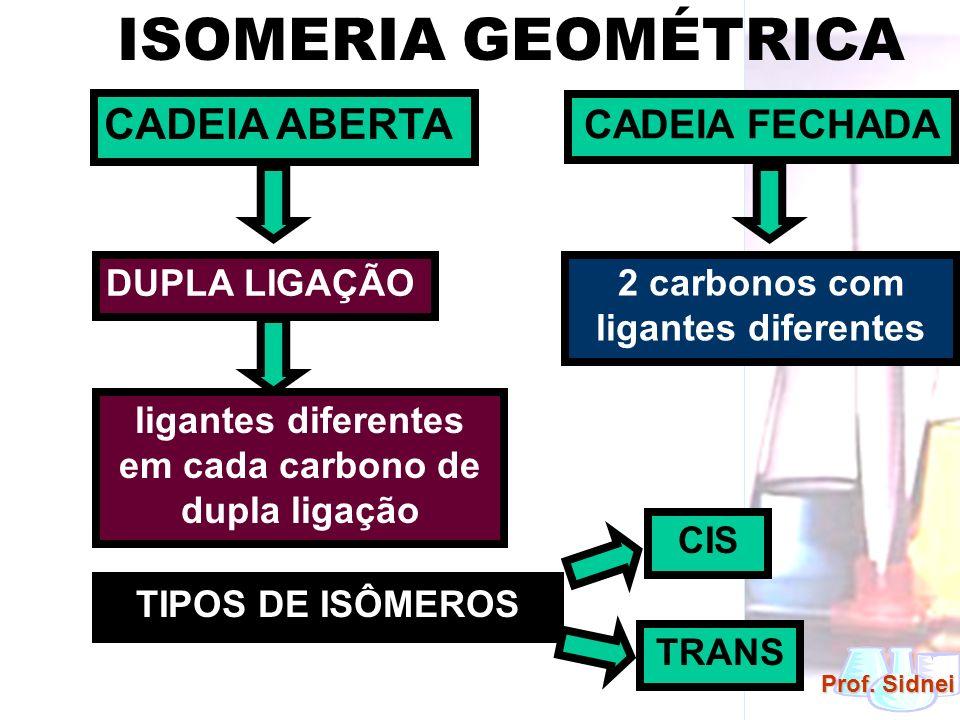 ISOMERIA GEOMÉTRICA CADEIA ABERTA CADEIA FECHADA DUPLA LIGAÇÃO
