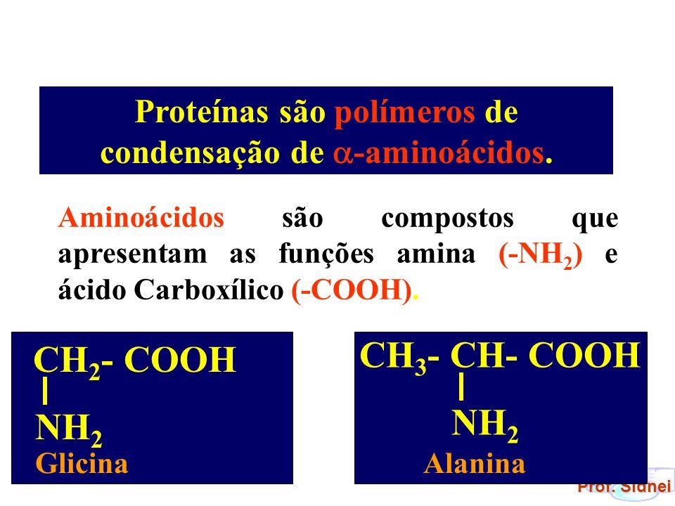 Proteínas são polímeros de condensação de -aminoácidos.