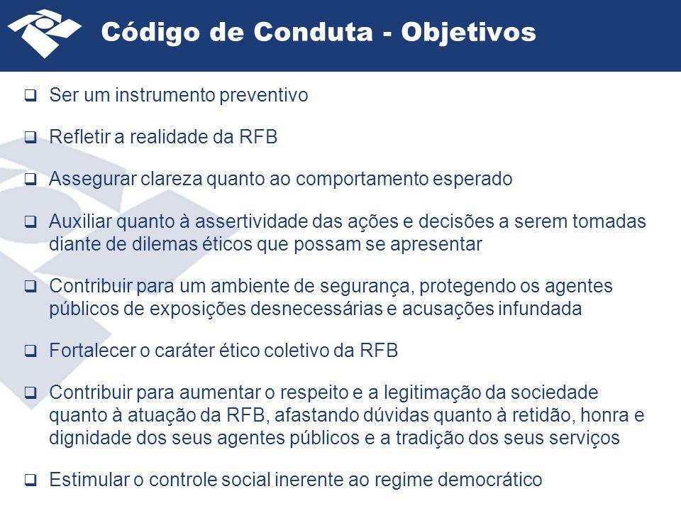Código de Conduta - Objetivos