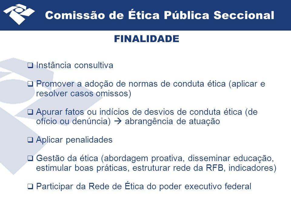 Comissão de Ética Pública Seccional